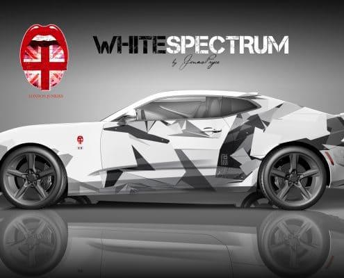 Camaro Design Autofolierung White Spectrum