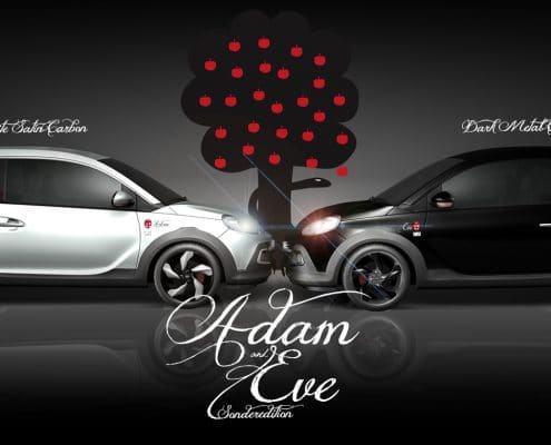 Sonderedition Opel Adam Autofolierung