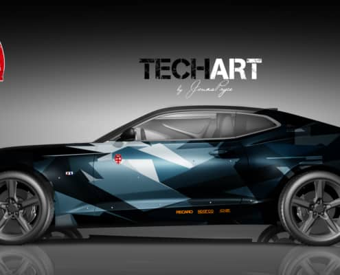 Camaro Design Autofolierung Tech Art