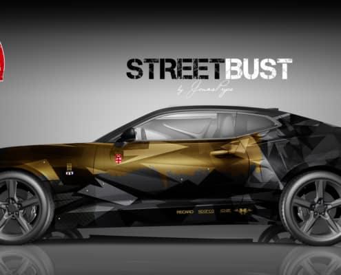 Camaro Design Autofolierung Street Bust