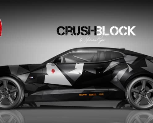 Camaro Design Autofolierung Crush Block