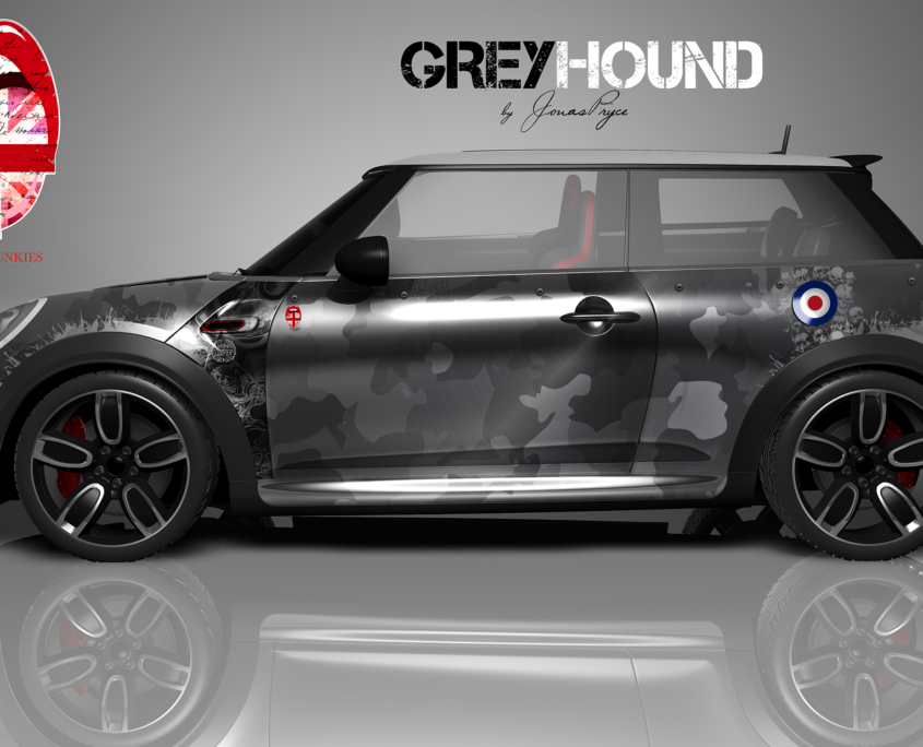 London Junkies Mini Works Design Grey Hound