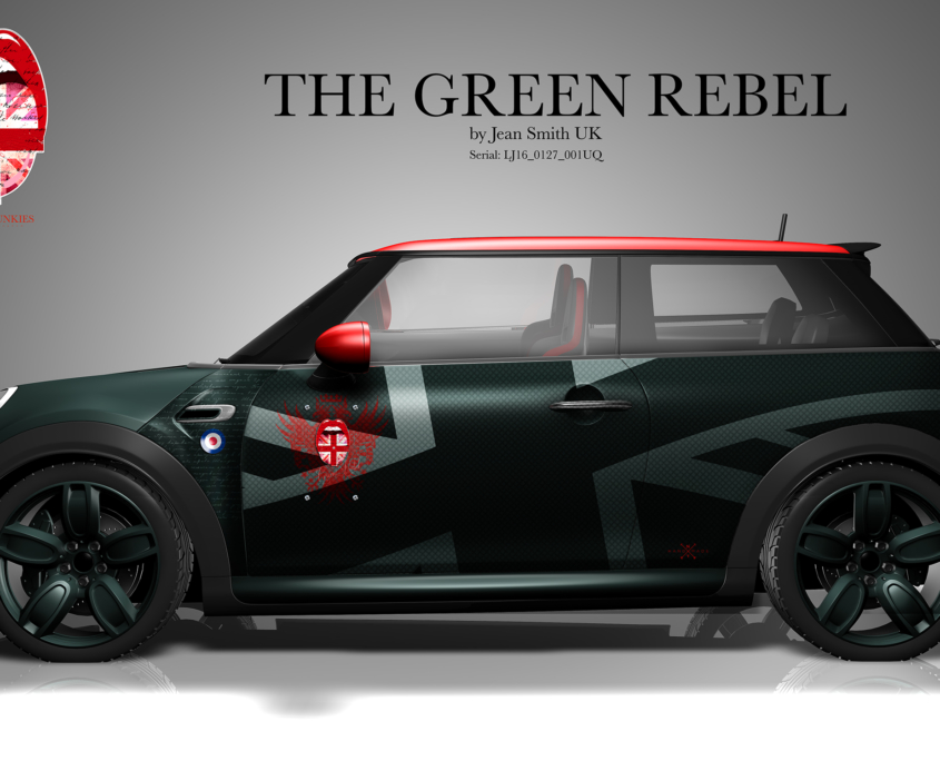 London Junkies Mini Works Design Green Rebell