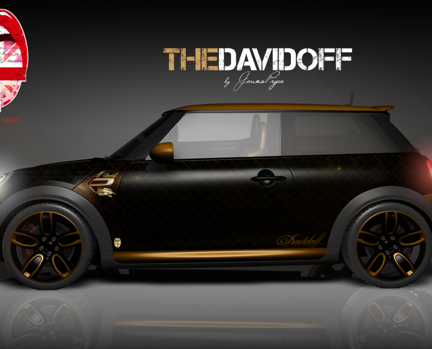 London Junkies Mini Works Design Autofolierung The Davidof