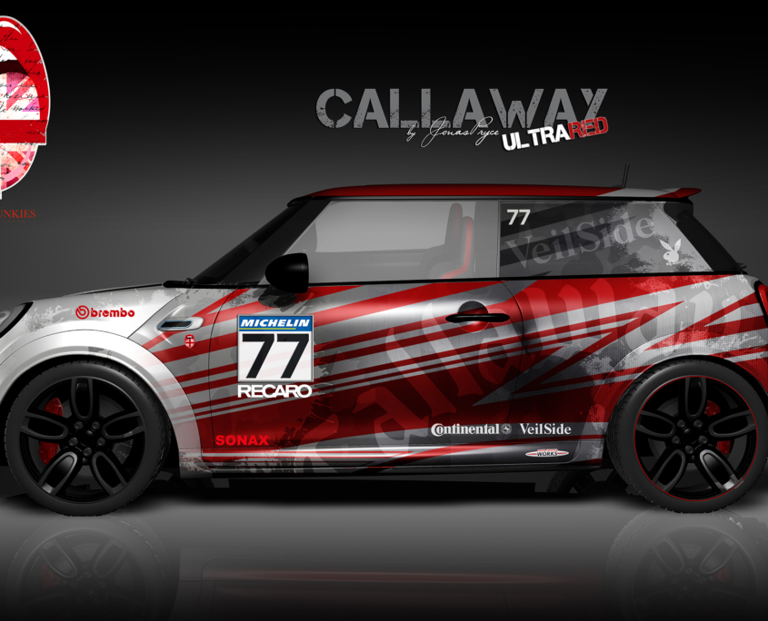 London Junkies Mini Works Design Autofolierung Callaway