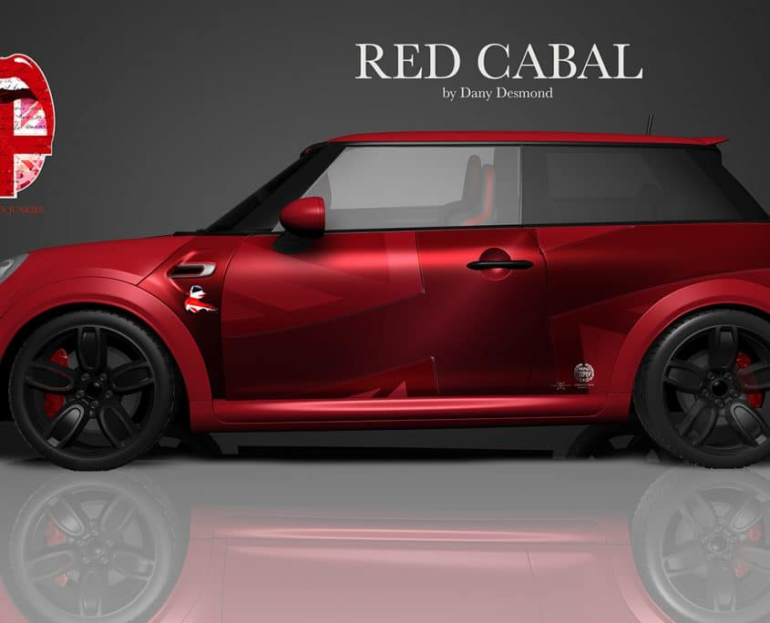 London Junkies Mini Works Design Red Cabal