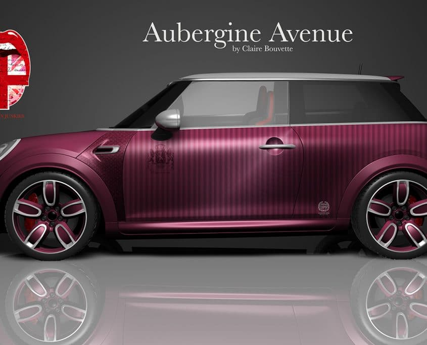 London Junkies Mini Works Design Aubergine Avenue