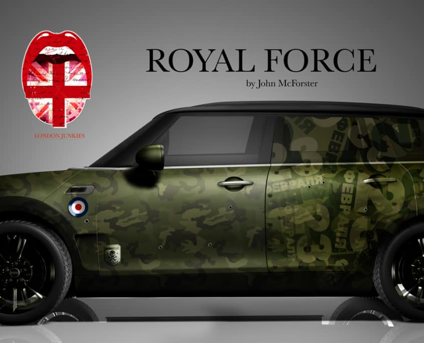 London Junkies Mini Clubman Design Royal Force
