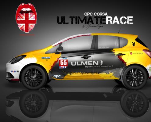 Opel Corsa Autofolierung Ultimate Race