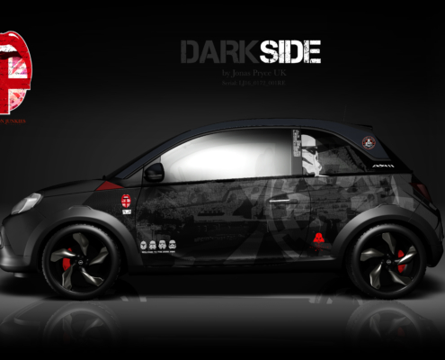 Opel Adam Car Wrapping Design Dark Side