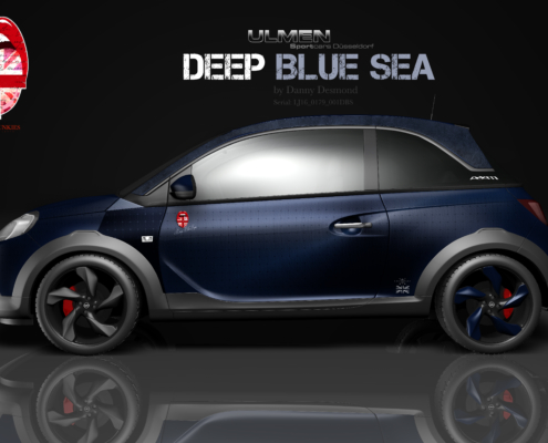 Opel Adam Autofolierung Deep Blue Sea