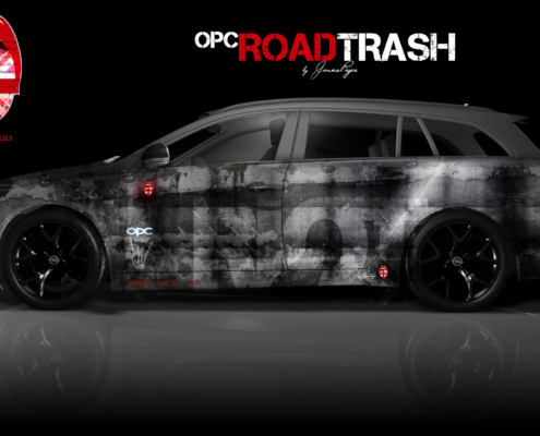 London Junkies OPC Autofolierung Design Road Trash