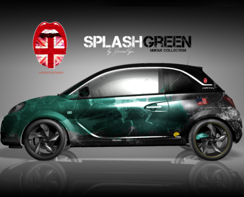 Opel Adam Autofolierung Splash Green