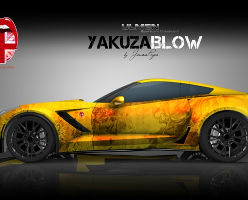 Corvette Autofolierung Carwrapping