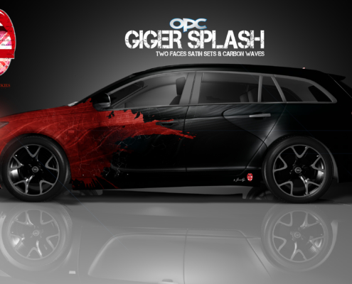London Junkies OPC Autofolierung Design Giger Splash