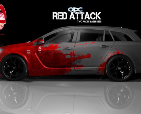 London Junkies OPC Autofolierung Design Red Attack