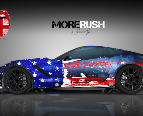 Corvette Vollverklebung Carwrapping
