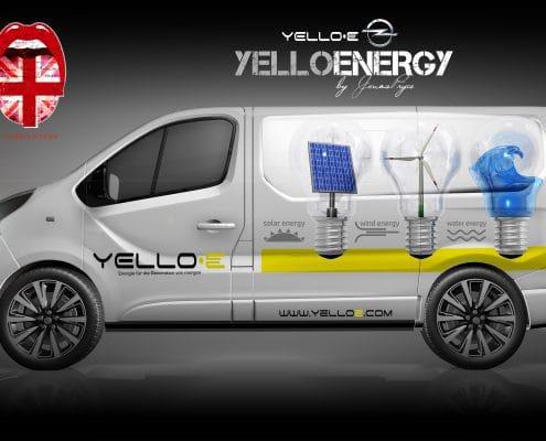 Opel Vivaro B2B Konzept Yello Energie
