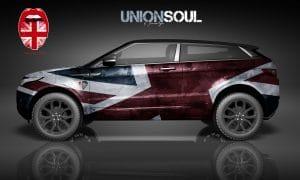 London Junkies UK Autofolierung Design Evoque Union Soul