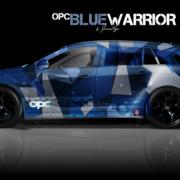 London Junkies OPC Autofolierung Design Blue Warrior