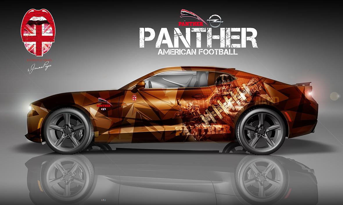 Camaro Design Autofolierung Panther Düsseldorf