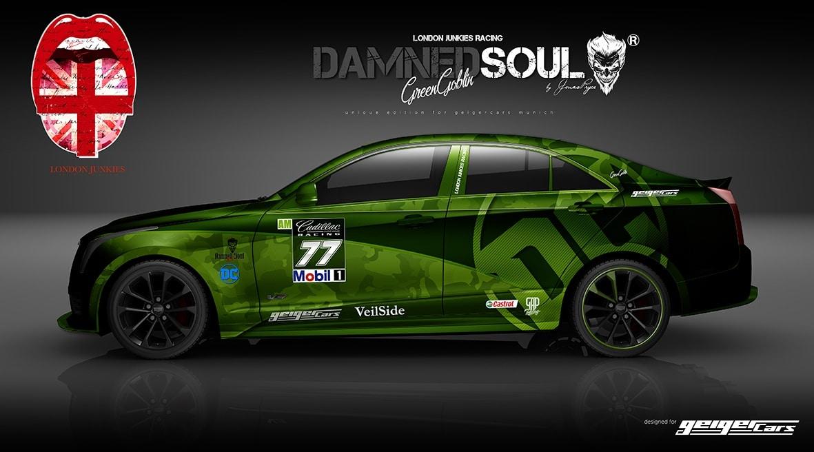 ATS V Design Autofolierung Damned Soul Green Goblin