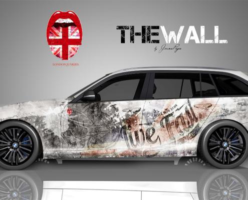 BMW Autofolierung The Wall