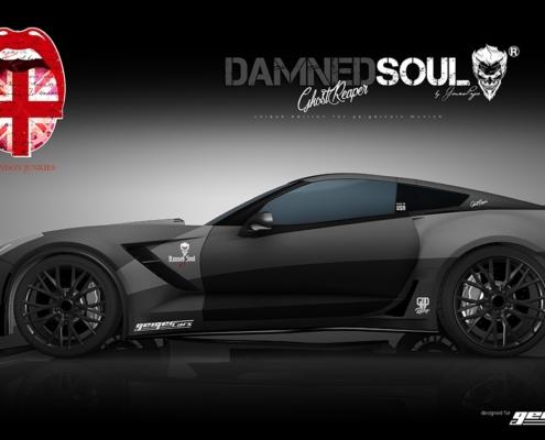 Corvette Design Autofolierung Damned Soul Ghost Reaper