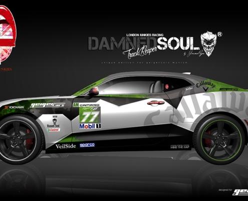 Camaro Design Autofolierung Damned Soul Track Reaper