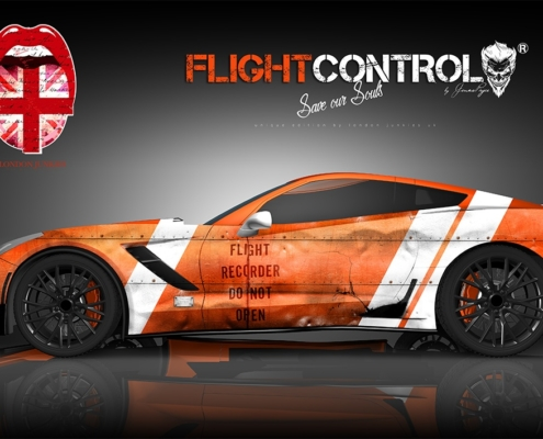 Corvette Custom Design Autofolierung Flight Control