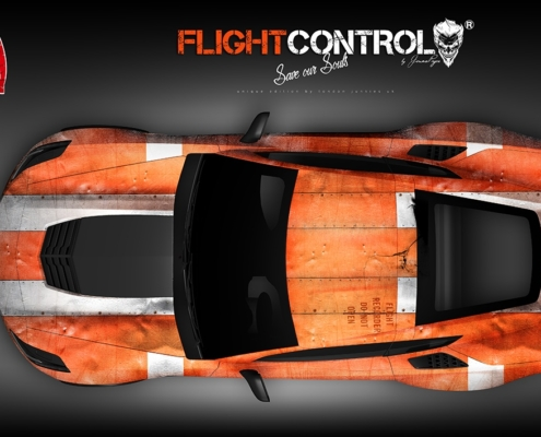 Corvette Custom Design Autofolierung Flight Control Top