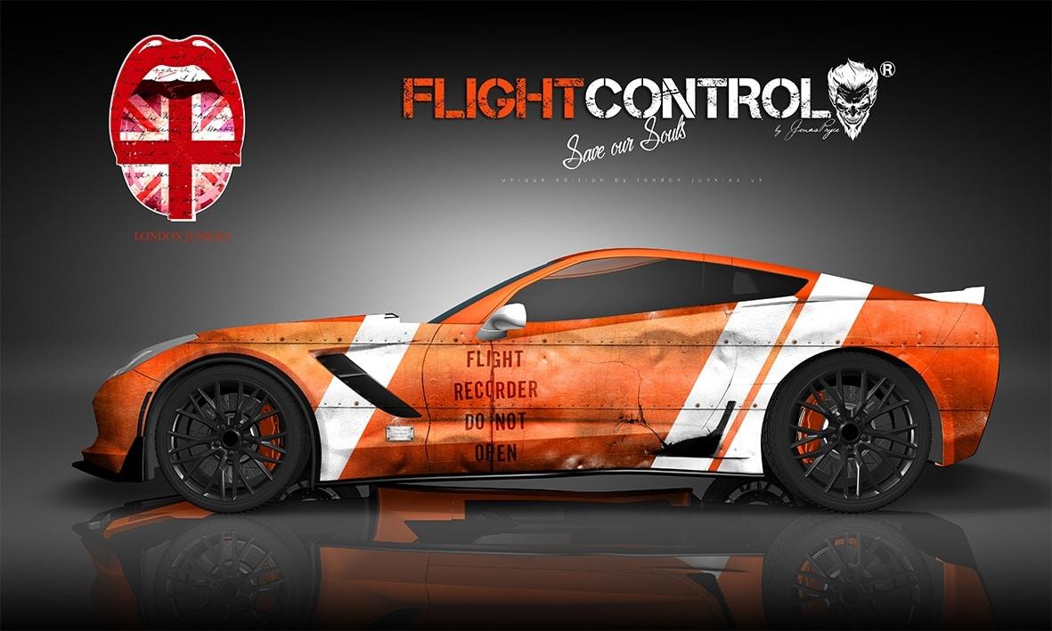 Corvette Custom Design Autofolierung Flight Control