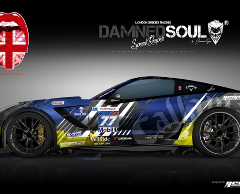 Corvette Design Autofolierung Damned Soul Speed Reaper Blue