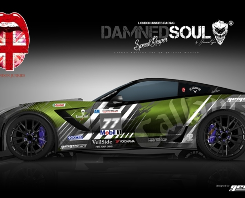 Corvette Design Autofolierung Damned Soul Speed Reaper Green