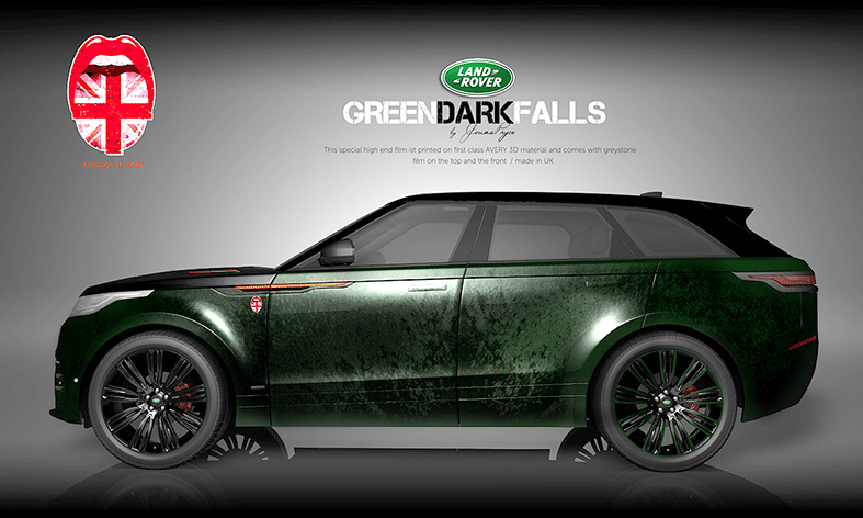 Land Rover Autofolierung Design Green Dark Falls