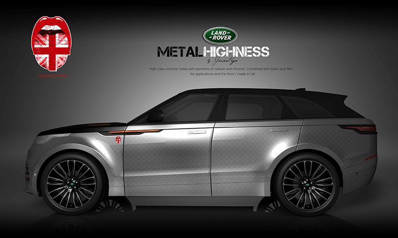Land Rover Autofolierung Design Metal Highness