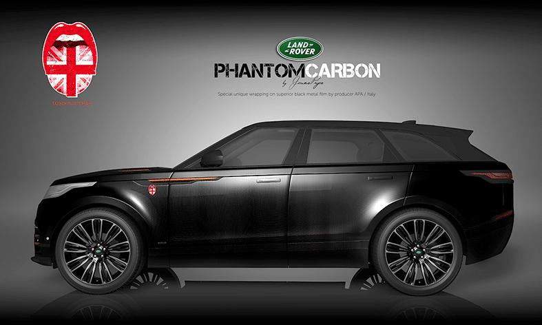 Land Rover Autofolierung Design Phantom Carbon