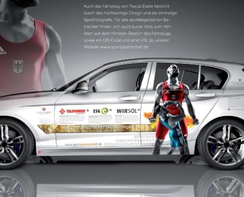 London Junkies B2B Design Autofolierung Sportkonzept 1