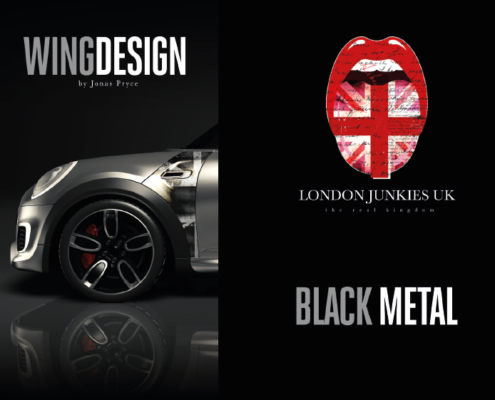 Mini Wing Design Black Metal