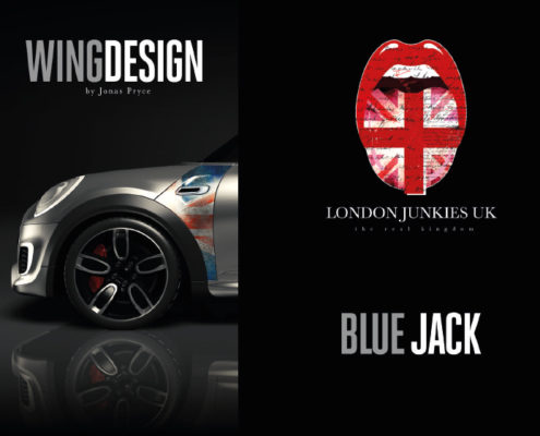 Mini Wing Design Blue Jack