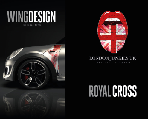Mini Wing Design Royal Cross