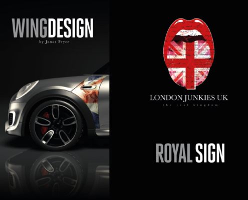 Mini Wing Design Royal Sign