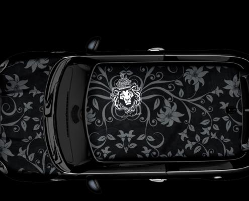 The Black Lilia Dach Design Autofolierung